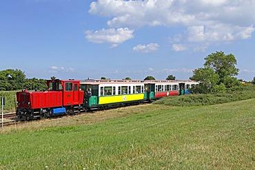 Island railway, Borkum Island, an East Frisian Island, Eastern Friesland, Lower Saxony, Germany, Europe