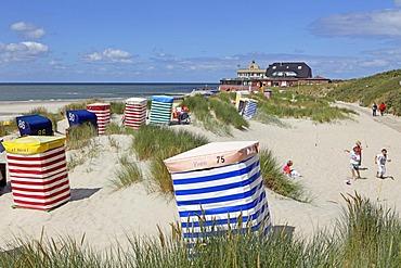 Southern beach, Borkum Island, an East Frisian Island, Eastern Friesland, Lower Saxony, Germany, Europe