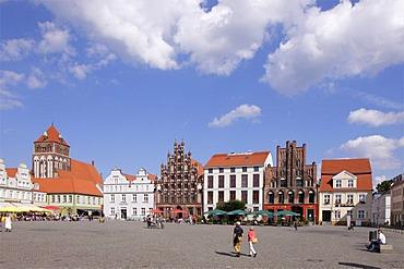Market square, Greifswald, Baltic coast, Mecklenburg-Western Pomerania, Germany, Europe