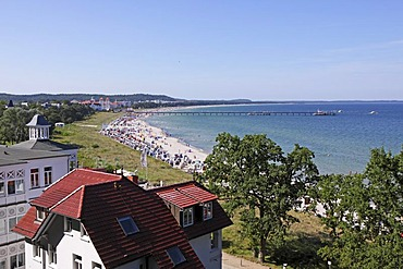 Beach, Binz, Ruegen Island, Mecklenburg-Western Pomerania, Germany, Europe
