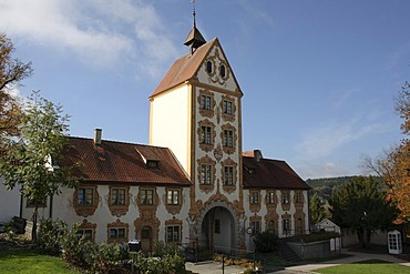 Oberes Tor, Upper Gate, in Rot ad Rot, Biberach, Upper Swabia, Baden-Wuerttemberg, Germany, Europe