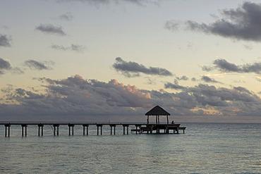 Pier, Fakarava, Havaiki-te-araro, Havai'i or Farea atoll, Tuamotu Archipelago, French Polynesia, Pacific Ocean