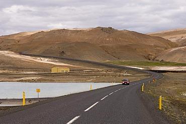 Road near Lake Myvatn, Reykjahlid, Iceland, Europe