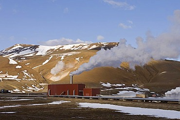 Krafla geothermal power station near Lake Myvatn, Reykjahlid, Iceland, Europe