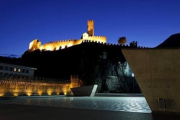Three Castles of Bellinzona, UNESCO World Heritage Site, Bellinzona, Ticino, Switzerland, Europe