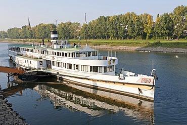 Ship museum, part of the TECHNOSEUM, paddle steamer, Neckar, Mannheim, Baden-Wuerttemberg, Germany, Europe