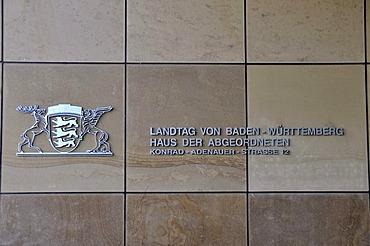 State Parliament of Baden-Wuerttemberg, House of Delegates, Konrad-Adenauer-Strasse 12, Stuttgart, Baden-Wuerttemberg, Germany, Europe