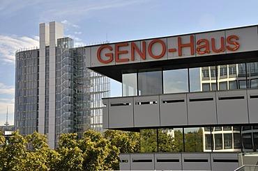 GENO-Haus bank building, center and landmark of the Wuerttembergische Genossenschaftsorganisation cooperative organisation, Stuttgart, Baden-Wuerttemberg, Germany, Europe