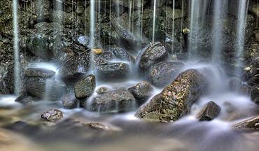 Fideren Hoehen waterfalls, Altstaetten, St. Gallen, Switzerland, Europe