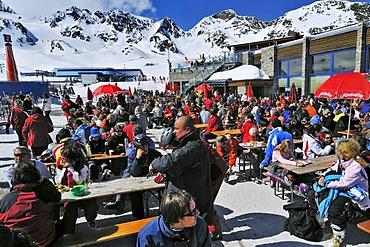 Stubai Glacier, Gamsgarten restaurant, Tyrol, Austria, Europe