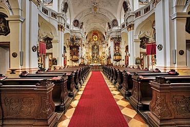 Baroque church in Duernstein in der Wachau, Waldviertel, Lower Austria, Austria, Europe
