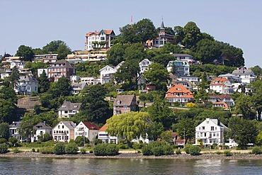 View on the Suellberg hill, Blankenese quarter in Hamburg, Germany, Europe