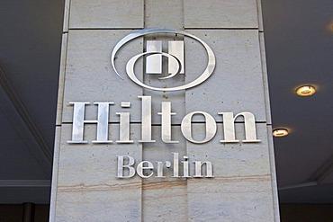 Logo of the Hilton Hotel Berlin, Berlin, Germany, Europe