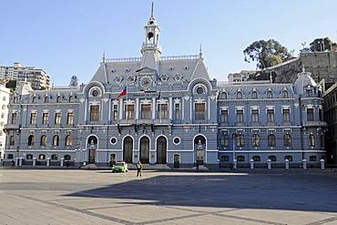 Armada de Chile, navy headquarters, Plaza Sotomayor, Valparaiso, Chile, South America