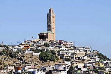 Mosque, houses, city view, Coquimbo La Serena Norte Chico, northern Chile, Chile, South America