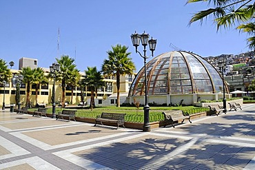 Plaza Gabriela Mistral square, Museo Domo museum, cultural center, glass dome, Coquimbo, La Serena, Norte Chico, northern Chile, Chile, South America