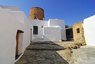 Caserio de Balafia, historical residential complex, settlement, defence tower, San Lorenzo, Sant Llorenc, Ibiza, Pityuses, Balearic Islands, Spain, Europe