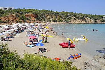 Cala Lenya, beach, Sant Carles de Peralta, San Carlos, Ibiza, Pityuses, Balearic Island, Spain, Europe