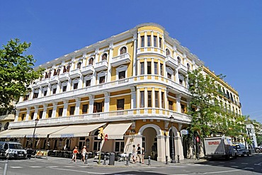 Montesol, famous cafe, hotel, Passeig de Vara de Rey, Paseo, square, Ibiza, Pityuses, Balearic Island, Spain, Europe