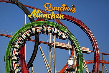 Barth's Olympia Looping, looping roller coaster at the Oktoberfest Munich, Theresienwiese, Munich, Bavaria, Germany, Europe