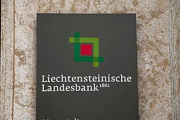 Headquarters of the Liechtensteinische Landesbank AG, LLB, in Vaduz, Principality of Liechtenstein, Europe