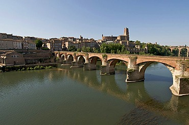 Bridge over river Tarn, Albi, France, Europe
