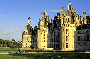 Chateau de Chambord, Castle of Chambord, Chambord, Departements Loir-et-Cher, France, Europe