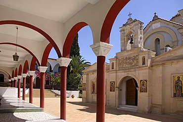 Moni Kalivianis Abbey, orphanage, old people's home and girls' boarding school, Crete, Greece, Europe