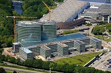 Aerial view, EON Ruhrgas energy corporation Headquarters Essen, Essen, Ruhrgebiet area, North Rhine-Westphalia, Germany, Europe