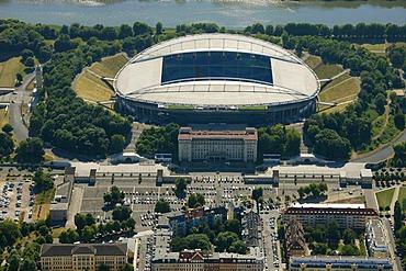 Aerial view, Zentralstadion stadium, Elsterbecken, Leipzig, Saxony, Germany, Europe