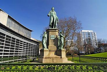 Schiller monument in the Gustav Mahler Park in Hamburg, Germany, Europe