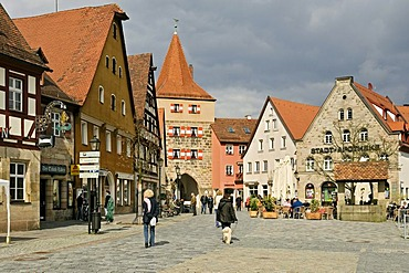 Market square, Lauf an der Pegnitz, Middle Franconia, Bavaria, Germany, Europe