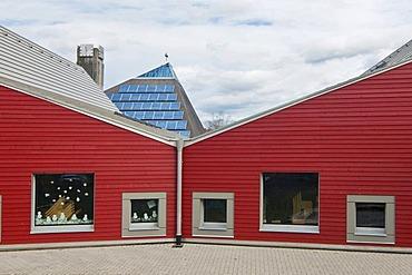 Kindergarten in passive house design, Freiburg, Breisgau, Baden-Wuerttemberg, Germany, Europe