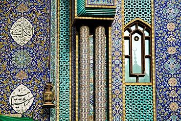 Facade of a mosque, Dubai, United Arab Emirates, Middle East