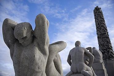 Sculptures in Vigeland Park, Oslo, Norway, Europe