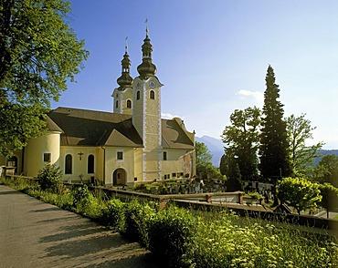 St. Oswald, Feistritz reservoir, Carinthia, Austria, Europe