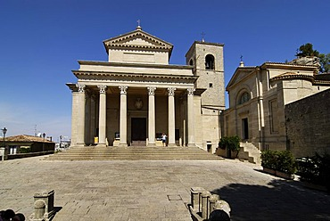 Basilica del Santo and San Franceso church, San Marino, Adriatic coast, Italy, Europe,