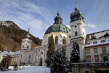 Abbey church, Benedictine Monastery, Ettal Monastery, Upper Bavaria, Bavaria, Germany, Europe