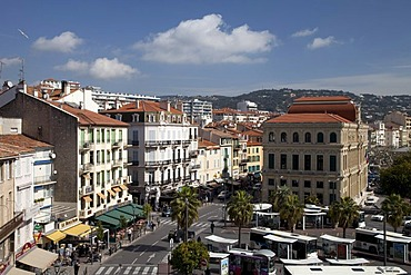View from the old town hill, Cannes, Cote d'Azur, France, Europe