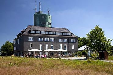 Asten Tower, observation tower and restaurant, Kahler Asten Mountain, Winterberg, Sauerland, North Rhine-Westphalia, Germany, Europe