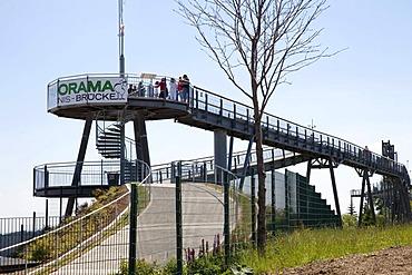 Panorama bridge at the Erlebnisberg Kappe recreational park, Winterberg, Sauerland, North Rhine-Westphalia, Germany, Europe