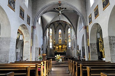 Romanesque church, St. Hippolyte's Church, Zell am See, Salzburg, Austria, Europe