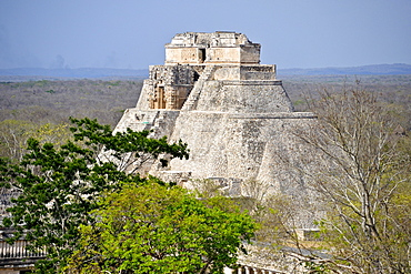 Mayan Pyramid of the Magician, temple, calendar, 2012, Uxmal, Yucatan, Mexico, North America
