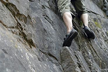 Climber, Cheddar Gorge, Cheddar, Somerset, England, United Kingdom, Europe