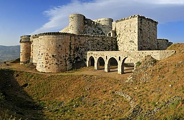 Crusader fortress Crac, Krak des Chavaliers, Qalaat al Husn, Hisn, Unesco World Heritage Site, Syria, Middle East, West Asia
