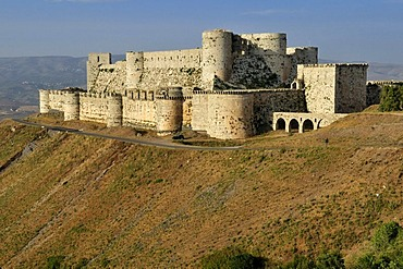 Crusader fortress Crac, Krak des Chevaliers, Qalaat al Husn, Hisn, Unesco World Heritage Site, Syria, Middle East, West Asia