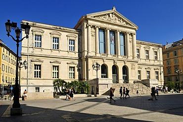 Palais de Justice, Place du Palais, Nice, Department Alpes-Maritimes, Region Provence-Alpes-Cote d'Azur, France, Europe