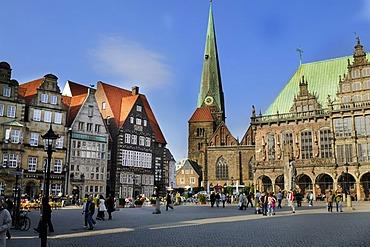 Bremen Roland, Roland statue on the market square in the historic centre, UNESCO World Heritage Site, landmark, Free Hanseatic City of Bremen, Germany, Europe