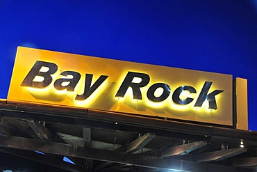 Sign at the entrance of the Bay Rock Cafe, Raouche district, Beirut, Lebanon, Middle East, Asia