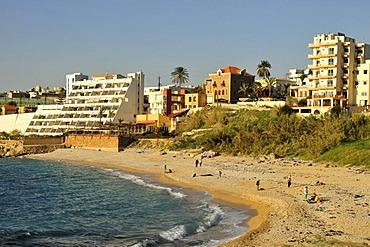 Beach of Jbeil, Byblos, Lebanon, Middle East, Orient